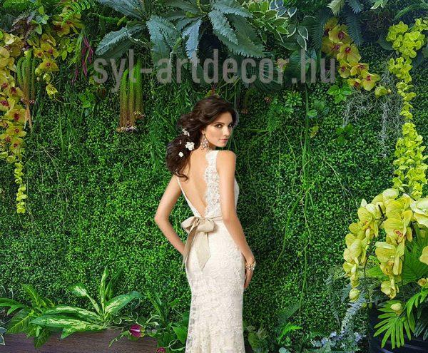 syl green flower wall